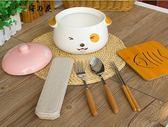 蒸碗泡面碗帶蓋陶瓷微波爐碗蒸蛋碗可愛的碗方便面碗創意碗大號碗【櫻花本鋪】