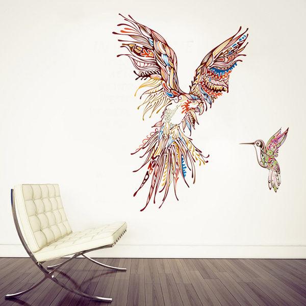 創意無痕壁貼 超大鸚鵡《Life Beauty》