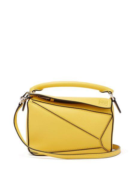 ■專櫃8折■2019新品 ■全新真品Loewe 羅威 迷你 Puzzle 兩用肩背包 黃色