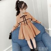 女童長袖洋裝女童長袖洋裝新款春裝兒童洋氣公主裙子秋季小女孩8歲9衣服快速出貨