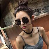 韓國新款墨鏡潮女個性圓臉復古網紅形太陽眼鏡女士明星款2018  無糖工作室