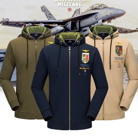 【刷毛】空軍MA1運動連帽外套 軍裝加厚棉質加絨教練外套加絨棉質連帽衛衣 3色 M-4XL碼【CW434211】