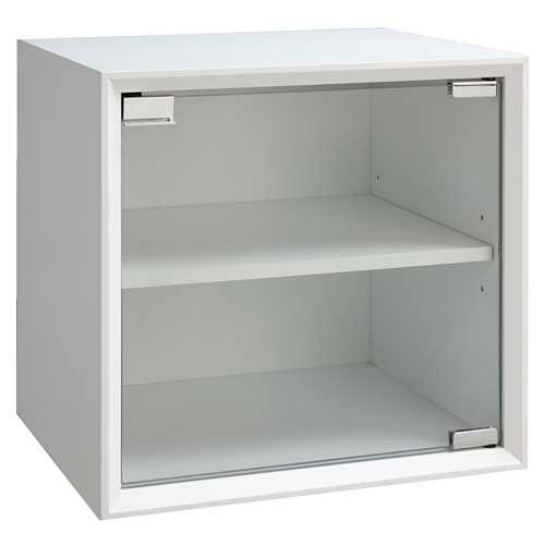 【藝匠】魔術方塊白色大玻璃門櫃收納櫃 家具 組合櫃 廚具 收藏 置物櫃 櫃子 小櫃子