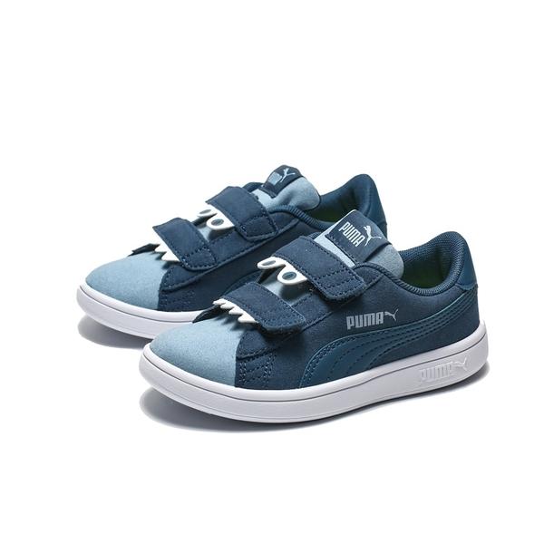PUMA SMASH V2 怪獸 麂皮 深藍 淡藍 休閒鞋 中童 (布魯克林) 36968003