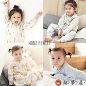 兒童睡袋純棉保暖四季通用兒童長袖分腿睡袋寶寶防踢被
