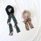 假領裝飾 韓國同步小圍巾仿兔毛絨絲帶領巾飄帶圍脖保暖 交換禮物