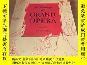 二手書博民逛書店a罕見treasury of GRAND OPERA(歌劇寶庫)