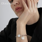手鍊 珍珠手鍊女ins潮小眾設計高級感圓盤手鐲簡約時尚氣質冷淡風手飾 非凡小鋪 新品