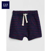 Gap男嬰兒 華夫格針織鬆緊腰短褲 442299-海軍淺藍
