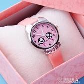兒童手錶-兒童手錶電子錶防水女孩女童水鑽皮帶石英錶 提拉米蘇