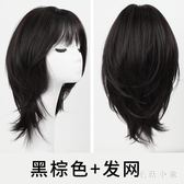 假髮女短髮圓臉短髮鎖骨髮中長髮髮型直髮整頂髮套JA7143『毛菇小象』