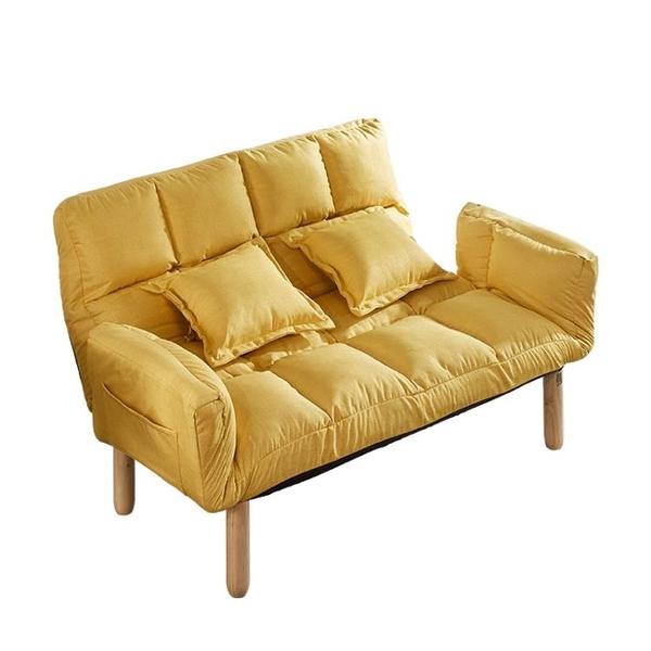 懶人沙發榻榻米雙人臥室網紅款小沙發陽臺小戶型租房沙發椅沙發床【全館免運】