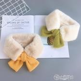 兒童圍巾 冬季寶寶加厚保暖圍脖女童時尚裝飾毛領柔軟百搭嬰兒圍巾