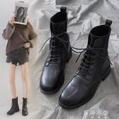 靴子馬丁靴子女秋冬季英倫風網紅女鞋瘦瘦短靴單靴加絨襪靴子 【全館免運】