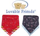[Mamae]Luvable Friends 男女童防水圍兜  雙層三角口水巾 嬰兒圍兜 寶寶吃飯衣