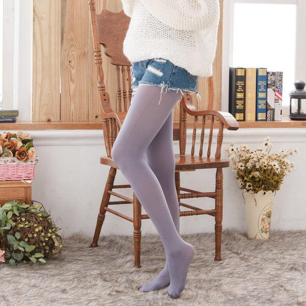 120D高級天鵝絨純色褲襪(芋紫色)