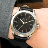 A/X Armani Exchange 亞曼尼 AX2621 簡約風格百搭腕錶/皮革黑44mm 熱賣中!