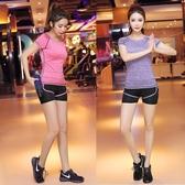 瑜伽服套裝女寬鬆顯瘦健身房運動跑步服短褲
