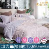 【Betrise羽洛傾城】加大3M專利天絲吸濕排汗八件式兩用被床罩組