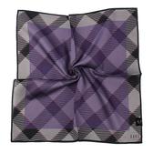 DAKS經典格紋100%純棉帕巾(紫色/灰色)989108-133