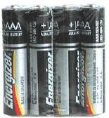 [奇奇文具] 【勁量 Energizer 電池】 勁量Energizer AAA4號 E92 鹼性電池/勁量4號電池 (4入/封-收縮膜)