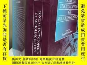 二手書博民逛書店Concise罕見Encyclopedia of Socioli