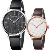 Calvin Klein CK Even 木質情侶手錶 對錶-銀框x玫瑰金框/42mm+36mm K7B211C1+K7B236G6