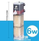 魚缸過濾器養魚氧氣泵三合一魚缸內置潛水泵龜缸水族箱過濾器設備         易家樂
