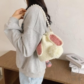 diy手工編織包包草莓兔子自制作材料包毛線可愛小包【小酒窩服飾】