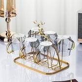 輕奢杯架瀝水家用客廳杯子收納置物架創意玻璃水杯架子倒掛歐式 青木鋪子「快速出貨」