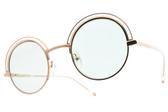 CARIN 太陽眼鏡 BENILA C4 (透明玫瑰金-綠鏡片) 韓星秀智代言 個性圓眉框款 墨鏡 # 金橘眼鏡