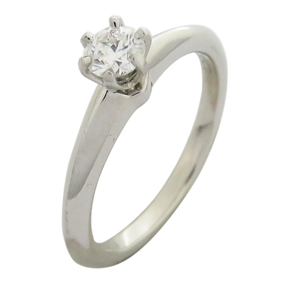 Tiffany & Co 蒂芬妮 Solitaire系列0.23ct 六爪單顆鑽石PT950柏金戒指【BRAND OFF】