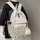 後背包 2021新款潮書包韓版帆布百搭男女時尚雙肩包森系大學生背包【快速出貨八折搶購】