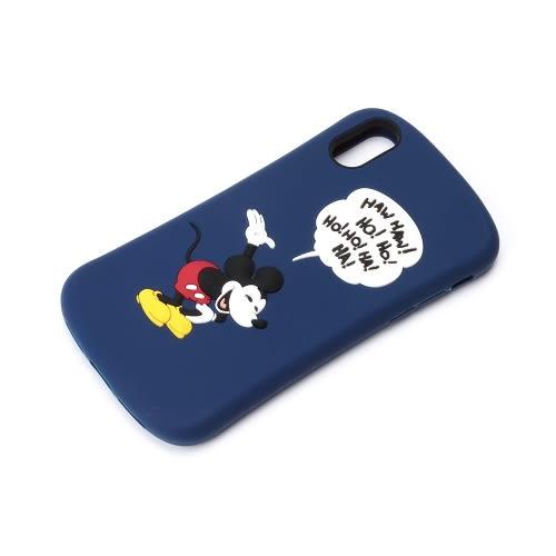 Hamee 日本 迪士尼 矽膠浮雕 iPhoneX 防摔 軟殼 手機殼 (米奇笑哈哈) DCS376MKY