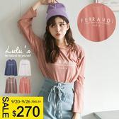 LULUS-E韓製-FERRANDI字母T恤-4色  現+預【01017886】