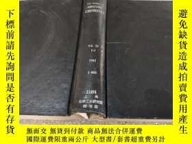 二手書博民逛書店the罕見journal of organic chemical