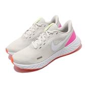 Nike 慢跑鞋 Wmns Revolution 5 灰 白 女鞋 運動鞋 【PUMP306】 BQ3207-007