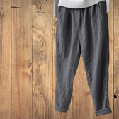闊腿褲 新款女裝文藝范女褲寬鬆休閒小腳亞麻棉麻適合胯大腿粗女褲子 城市科技