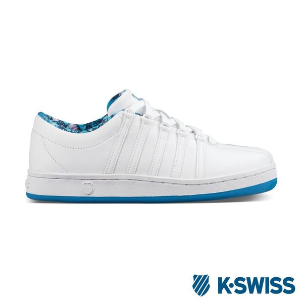 K-Swiss Classic 88休閒運動鞋-女-白/藍印花