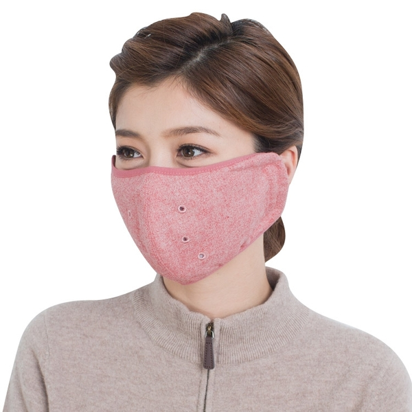 UV100 昇溫保暖透氣口罩-附濾片 機車口罩推薦款