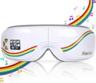 Rariro【日本代購】眼部保暖器 眼部按摩器 多頻振動 無線音樂USB充電-白
