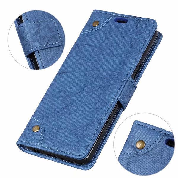 SONY Xperia 10 II Xperia 1 II 銅釦復古皮套 手機皮套 插卡 支架 掀蓋殼 磁扣 保護套 皮套