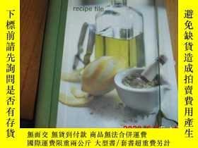 二手書博民逛書店recipe罕見file (英文原版 西点配方食谱)Y25524