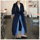 ✦Styleon✦正韓。俐落雙排扣翻領長版風衣外套。韓國連線。韓國空運。0905。