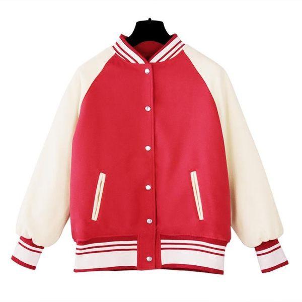 夾克外套女秋季毛呢棒球服女新款寬鬆韓版加厚學生原宿風外套百姓公館
