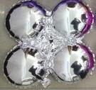 小四輪(圓)造型鋁箔氣球-銀色(未充氣)~~求婚道具/婚禮 生日 耶誕節 尾牙佈置
