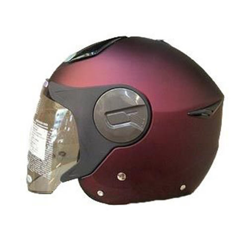 【東門城】ZEUS ZS612A 素色(消光酒紅) 輕量化半罩式安全帽