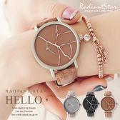西班牙品牌NAFISA石破天驚偏心設計文創感皮革手錶【WNA004】璀璨之星☆