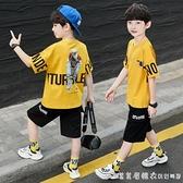 童裝男童夏季套裝洋氣網紅時髦2021新款夏裝中大童街舞男孩韓版潮 美眉新品