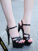 高跟鞋 高跟鞋女涼鞋模特細跟 厚底防水台女款高跟鞋 超值價